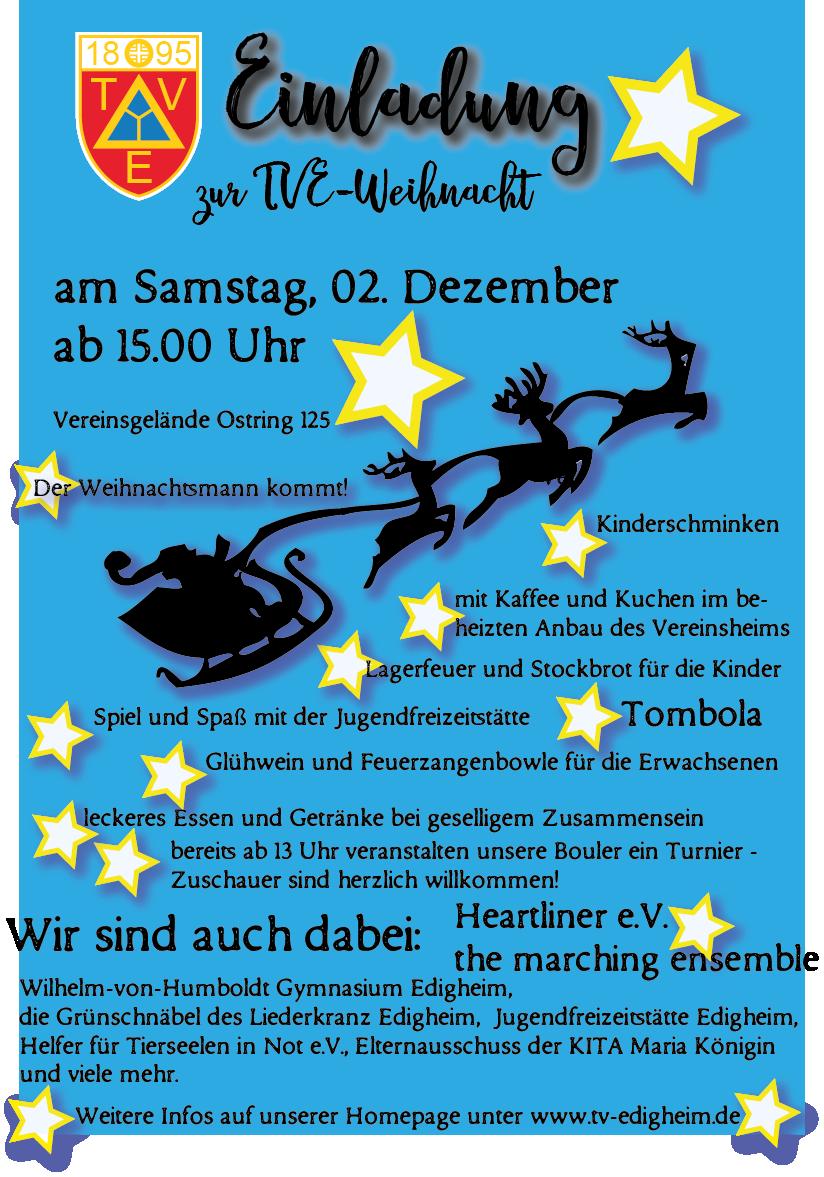 Einladung zur TVE-Weihnacht