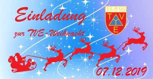 07.12.2019 Weihnachten beim TV Edigheim ab 15:00 Uhr